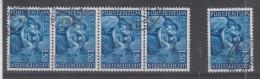 LIECHTENSTEIN - 349 Obli (bande De 4 + 1) Cote 7,50 Euros Depart à 10% - Used Stamps