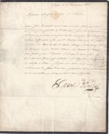 IMPERIAL RUSSIAN LETTER PRINCE PAUL DEMIDOFF 1828 SCANCY DIAMOND - Historical Documents