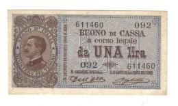 1 Lira Buono Di Cassa Serie 092 21 09 1914 Q.fds  LOTTO 1336 - 500 Lire