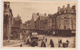 POITIERS. -  La Rue Du Marché Et La Place Notre-Dame. Carte Pas Courante - Poitiers