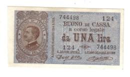 1 Lira Buono Di Cassa Serie 124 21 09 1914 Q.fds  LOTTO 1337 - [ 1] …-1946 : Kingdom