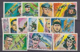 Guinea Ecuatorial Heroes Del Aire 14v Used (33937) - Equatoriaal Guinea