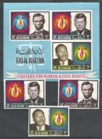 RAS AL KHAIMA - MNH - Famous People - J. Kennedy - A. Lincoln - M. L. King - Human - Civil Rights - Imperf.