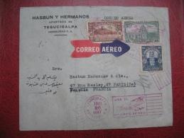 Lettre Par Avion Honduras Pour La France 1926 , Air Mail Cover From Honduras To France - Honduras