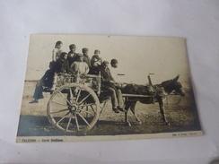 CP PALERMO CARRE SICILIANO VOYAGEURS ANE CHARETTE CIRCULEE  1913 - Palermo