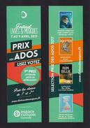 Marque Page.   Bookmark.   Festival Livres Et Musiques 2017 En Normandie.  E.Leclerc - Marque-Pages