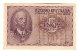 5 Lire Impero 1944  Ottimo Esemplare Spl/sup LOTTO 1424 - [ 1] …-1946 : Kingdom