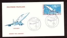 Concorde - 1976 - Enveloppe Premier Jour - Polynésie Française PA N° 103 - Paris-Rio - Concorde