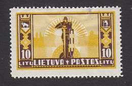 Lithuania, Scott #295, Mint Hinged, Knight, Issued 1934 - Lithuania