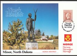 Norway 1991 / Norsk Hostfest / Minot, North Dakota / Skiing, Monument - Ski