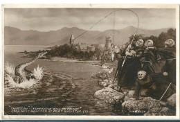 C.P.A.  Humoristique   ANGLAISE   Sur  La  Prise  A  La  Pêche  Du  Monstre  De  LOCH - NESS       £  ( 1 Angle Cassé ) - Humor