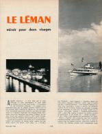 1964 : Document, LE LEMAN (6 Pages Illustrées) Genève, Evian, Chillon, Coppet, Clarens, Thonon, Montreux, Lausanne, Lac - Vieux Papiers