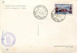 16266 Italia, Special Postmark 1961 Urbino, Sagra Dell'aquilone, Kite Fest -  Festes Des Cerf-volant - Other