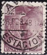 1940 923 FRANCO DENTADO GRUESO USADO AVILA ESTACION RRR SPAIN SPANIEN ESPAGNE SPANJE - 1931-Today: 2nd Rep - ... Juan Carlos I
