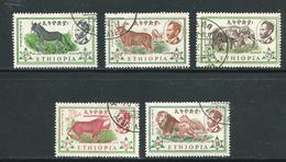 ETHIOPIE- Y&T N°371 à 373-375-376- Oblitérés - Ethiopie