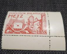 EXPOSITION PHILATELIQUE DE METZ 1938 Vignette Rouge - Erinnophilie