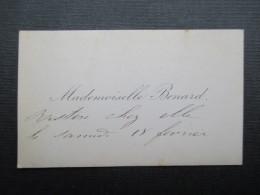 CARTE DE VISITE BELGIQUE (V1618) Mademoiselle Benard (2 Vues) Restera Chez Elle Le 18 Février - Cartes De Visite