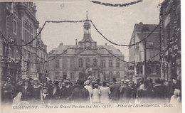 CHAUMONT Fete Du Grand Pardon ( 24 Juin 1928 ) Place De L Hotel De Ville - Chaumont