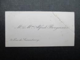 CARTE DE VISITE BELGIQUE (V1618) Mr. Et Mme. Alfred Brugmann (2 Vues) 21, Rue Du Luxembourg - Cartes De Visite