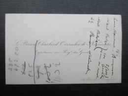 CARTE DE VISITE BELGIQUE (V1618) Le Baron Charles D'Overschielde De Neerissche (2 Vues) Capitaine Au Régt. Des Guides - Cartes De Visite