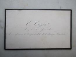 CARTE DE VISITE BELGIQUE (V1618) E. CUGIAL Luogotenente Generale (2 Vues) Primo Ajutante Di Campo Di Il Principe UMBERTO - Cartes De Visite