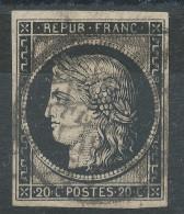 Lot N°33238  N°3, Oblit Grille De 1849 Et Cachet à Date De Février 1849, Les Deux Oblitération Sur Le Timbre RARE - 1849-1850 Ceres