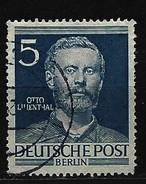 BERLIN - Mi-Nr. 92 Männer Aus Der Geschichte Berlins Otto Lilienthal Gestempelt (2) - Berlin (West)