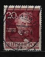 BERLIN - Mi-Nr. 97 Männer Aus Der Geschichte Berlins Werner Von Siemens Gestempelt (2) - Berlin (West)