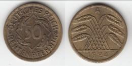 **** ALLEMAGNE - GERMANY - 50 RENTENPFENNIG 1924 A - WEIMAR REPUBLIC **** EN ACHAT IMMEDIAT - [ 3] 1918-1933 : Weimar Republic