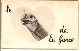 """L07E040 -  Carte Humoristique """"Le Dindon De La Farce """" - Bord Doré - Collection Les Bonnes Pensées - N°1060 - Pons Cart - Humour"""