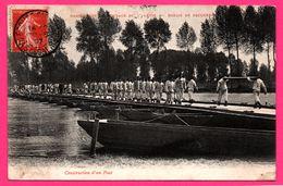 Marais De Becquerel - Manœuvres De Pontage Du 3e Génie - Construction D'un Pont - Animée - Militaires - 1907 - Francia