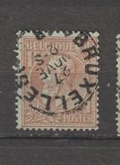 COB 51 Oblitéré BRUXELLES 3 Catalogue 2016 COBA +4 - 1884-1891 Léopold II