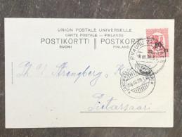 B10 Finnland Finland Finlande Suomi 1920 Firmenkarte Mit Bahnpost!! Nach Jakobstad