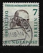 BERLIN - Mi-Nr. 163 Männer Aus Der Geschichte Berlins Theodor Mommsen Gestempelt - Berlin (West)
