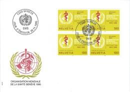 FDC Suisse 1995  * OMS * Oblitéré Du 1er Jour - FDC