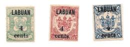 Labuan Scott   63-69 Mint Hinged VF  CV $138.00 - North Borneo (...-1963)