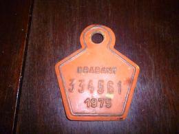 CB10 Fietsplaat Plaque Immatriculation Vélo  Brabant 1975 334561 - Plaques D'immatriculation