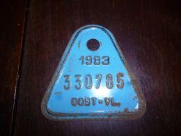 CB10 Fietsplaat Plaque Immatriculation Vélo  Oost Vlanderen 1983 330785 - Placas De Matriculación