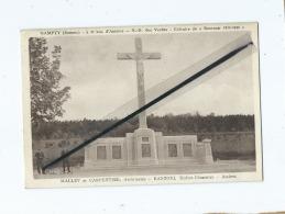"""CPA  - Nampty (Somme ) à 11 Km D'Amiens - N.D. Des Vertus - Calvaire Du """"Souvenir 1914-1918"""" - France"""