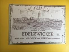 2617 - Alsace  Edelzwicker Moenchhaus - Etiquettes