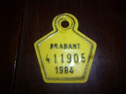 CB10 Fietsplaat Plaque Immatriculation Vélo  Brabant 411905 1984 - Plaques D'immatriculation