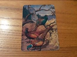 "Calendrier 1993 PORTUGAL ""faisans (oiseau) / MANUEL JOAO BATISTA MIRANDA - Valongo"" (7x10cm) Chromo - Tamaño Pequeño : 1991-00"