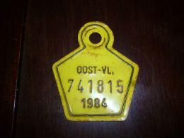 CB10 Fietsplaat Plaque Immatriculation Vélo  Oost Vlaanderen 1984 741815 - Plaques D'immatriculation