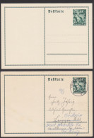 Deutsches Reich 2 Ganzsachen P267 Fackelträger Brandenburger Tor * Und Gest. Olbernhau - Postwaardestukken