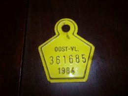 CB10 Fietsplaat Plaque Immatriculation Vélo  Oost Vlaanderen 1984 361685 - Plaques D'immatriculation