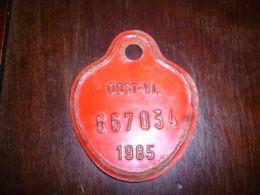 CB10 Fietsplaat Plaque Immatriculation Vélo  Oost Vlaanderen 1985  667034 - Plaques D'immatriculation