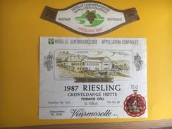 2626 - Luxembourg Riesling Greiveldande Hutte 1987 - Etiquettes