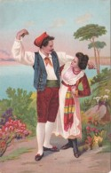 Italy Romantic Couple Italian Couple Dancing In Traditional Cost
