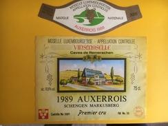 2627 - Luxembourg Auxerrois Schengen Markusberg 1989 - Etiquettes