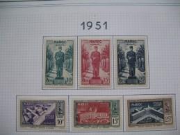 Maroc   Neufs     Série Complète      N° 299 à 304 Et 315 à 319 Et 296 à 298 Et 327-328 - Morocco (1891-1956)